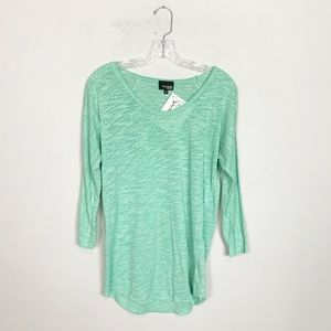 Wilfred Aritzia | 3/4 sleeve pullover top green S